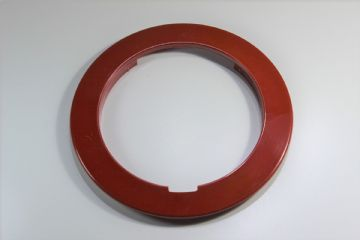 GPO Lacquer Red Plain Telephone Dial Surround
